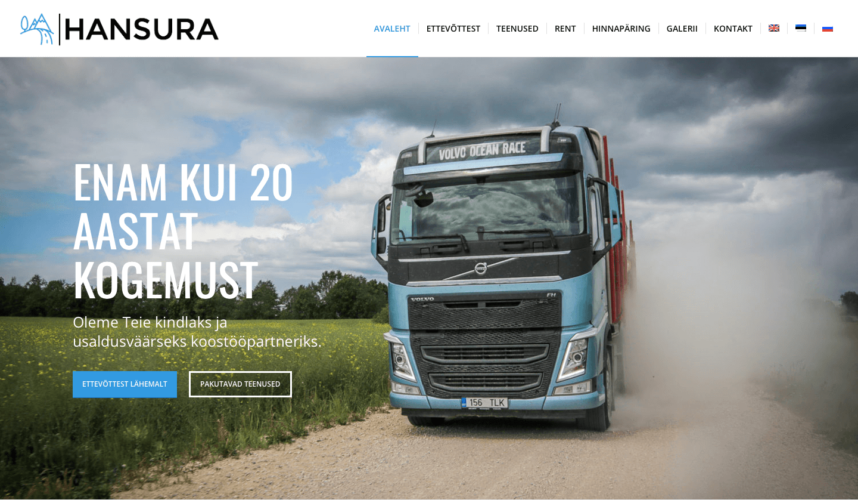 HANSURA – transport ja metsandus