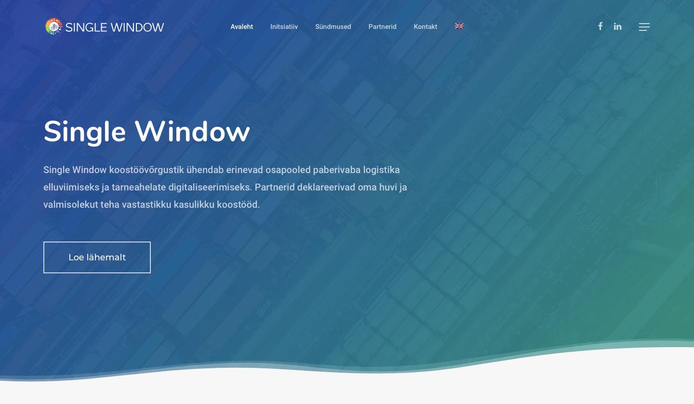 SINGLE WINDOW – koostöövõrgustik